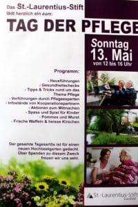 Ankündigung – Sonntag,13. Mai, Tag der Pflege im St.-Laurentius-Stift