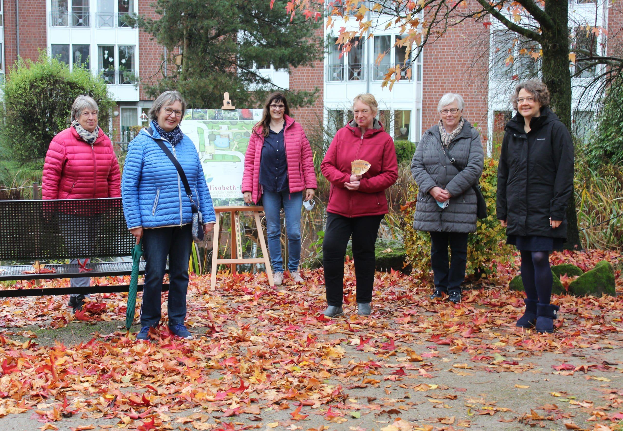 Großzügige Spende der kfd Nottuln für die geplante Garten-Oase im St. Elisabeth-Stift